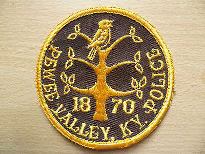 Patches: PEWEE VALLEY KY POLICE PATCH (NEW. apx.4x4 inch)