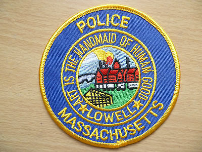 Patches:MASSACHUSETTS ART IS THE HANDMAID OF HUMAN GOOD LOWELL POLICE PATCH(NEW)
