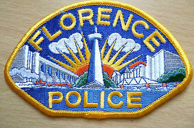 Patches: FLORENCE POLICE PATCH (NEW,approx. 4.12x3)