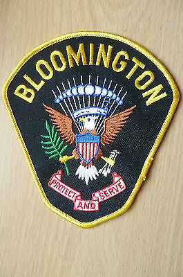 Patches: BLOOMINGTON POLICE PATCH (NEW, apx.13x12 cm)