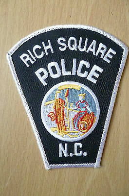 Patches- RICH SQUARE NC POLICE DEPT PATCH (NEW,apx4.4x3.10 inch)