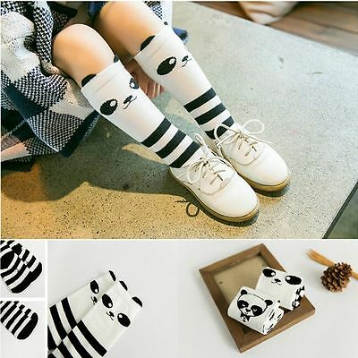 New For Age 1-4 Years Baby Kids Toddlers Knee High Socks Panda Pattern Tights