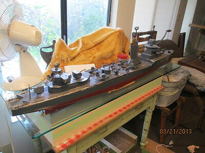 Boucher Live Steam Battleship One Made Special Order With Letter 55Inches Long