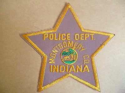 Patches: MONTGOMERY CO. INDIANA USA POLICE PATCH (NEW* apx.12x12 cm)