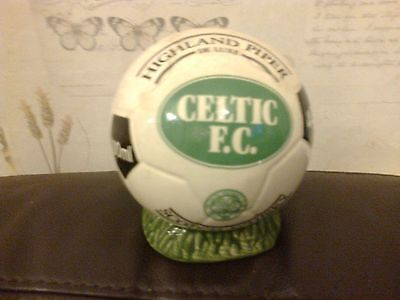 Highland Piper Deluxe Scotch Whisky Holder Celtic Fc Green Football 1980's