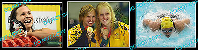 Libby Trickett + Schipper Olympic Swimming Gold Medal Signed Photo +2 Photos