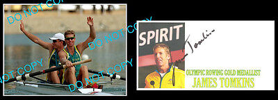 James Tomkin Australian Olympic Rowing Gold Medallist Signed Cover +1 Photo