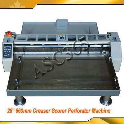 "110V 26"" 660mm Creaser/Scorer/Perforator Paper Creasing Machine Plywood Package"