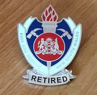 New South Wales Fire & Rescue Retired Badge