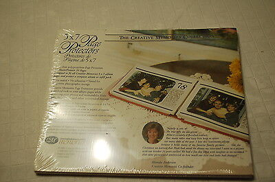 Creative Memories 5x7 Clear Page Protectors NIP 10 Sheets/Protects 20 Pages