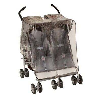 JEEP (H.I.S.) Deluxe Side-By-Side Double Stroller Weather Shield & Storage Bag
