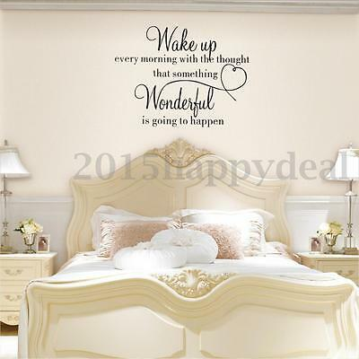 Wake Up Quote Wall Sticker Home Art Decoration Bedroom DIY Vinyl Decal Removable