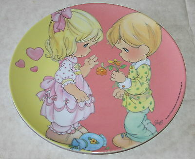 """Precious Moments Child's Plastic Plate by Gibson Sam Butcher 2006 Girl Boy 8"""""""