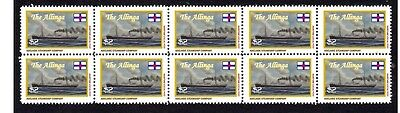 Allinga Adelaide Steamship Co Strip Of 10 Mint Stamps