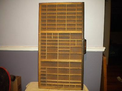 Vintage Type Set Drawer with 89 Compartments