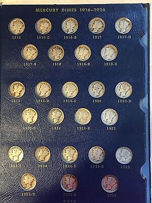 Complete 78 coin Set Mercury Dime Collection with 1916 D and 1942/1
