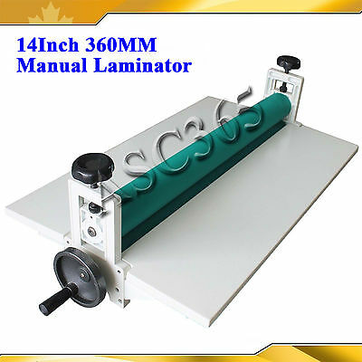 "14"" 360MM Manual Cold Laminator Laminating Machine Mounting Brand New"