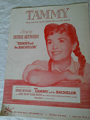 Tammy as sung by Debbie Reynolds vintage 1957 Sheet Music photo cover