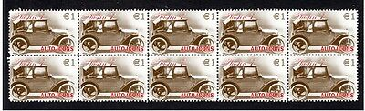 Austin 7, Auto Icons Strip Of 10 Mint Stamps 5