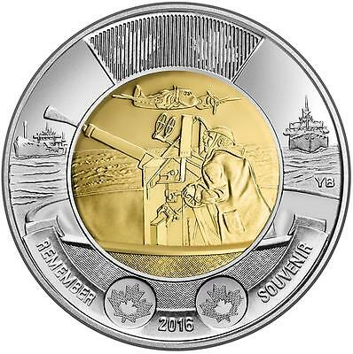 2016 CANADA UNC TWO DOLLAR Coin - 75th Anniversary of the Battle of the Atlantic
