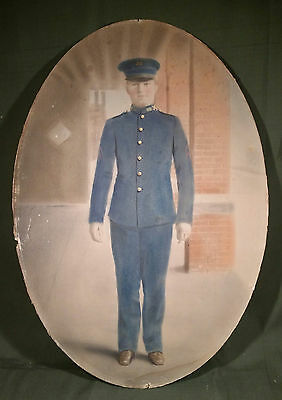 1902 US Army 120th Infantry hand painted tinted soldier photo Watertown NY
