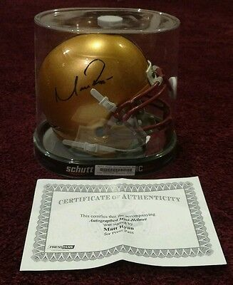 Matt Ryan Signed Mini Helmet Atlanta Falcons BC Press Pass