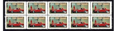 Ford Mustang Auto Icon Strip Of 10 Mint Stamps #2
