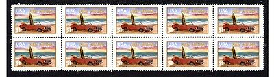 Ford Mustang Auto Icon Strip Of 10 Mint Stamps #5