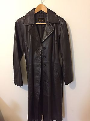 SIRICCO Women's leather Trench Coat Size L