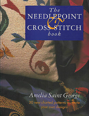 Needlepoint and Cross Stitch Book - Learn How - 30 Designs