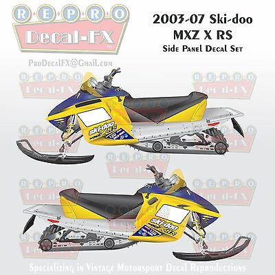2003-07 Ski-doo MXZ X RS Rev Reproduction Side Panel Vinyl Decals 8 Pieces