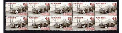 1940 Dodge Auto Icons Strip Of 10 Mint Stamps #4