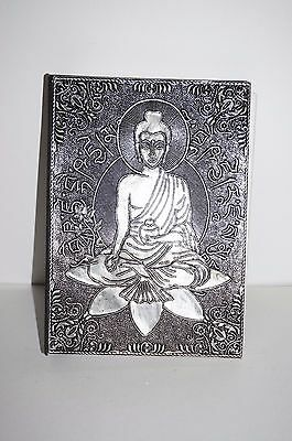 Buddha silver Hand crafted Diary Book of shadows spells Journal Keepsake