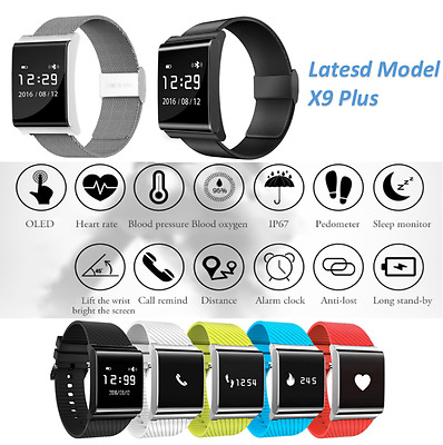 X9 Plus Smart Wristband Blood Pressure Oxygen Monitor  Pedometer For IOS Android