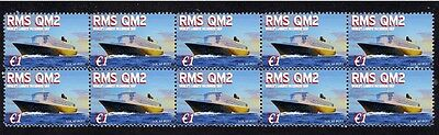 Queens Mary 2 Worlds Largest Ship Mint Stamp Strip 1
