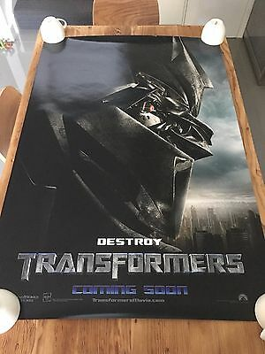 TRANSFORMERS 'DESTROY' 2007 Original TEASER 27x40 DS AUS Movie Cinema poster