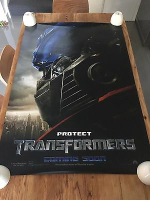 TRANSFORMERS 'PROTECT' 2007 Original TEASER 27x40 DS AUS Movie Cinema poster