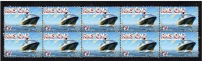 Queens Mary 2 Worlds Largest Ship Mint Stamp Strip 2