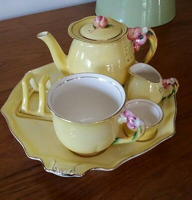 Royal Winton Breakfast Set - Yellow Tiger Lily 7 piece
