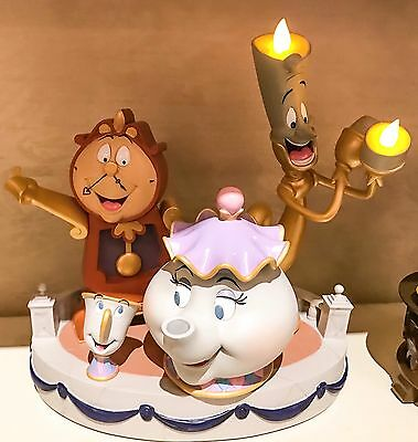 Disney Parks Beauty Beast Lumiere Cogsworth Potts Enchanted Objects Med Big Fig