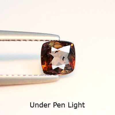 Quality Grade 0.57Cts Natural Color Change Axinite Cushion Loose Gemstone