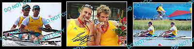 Scott Brennan Australian Olympic Rowing Gold Medallist Signed Photo +2 Photos