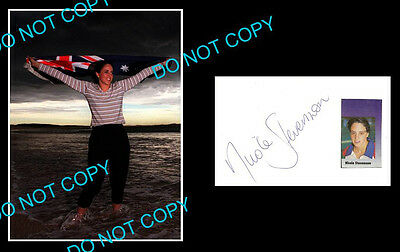 Nicole Stevenson Aussie Olympic Swimmer Signed Cover +1 Photo