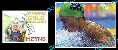 Penny Heyns Olympic Gold Medal Swimmer Signed Cover +1 Photo