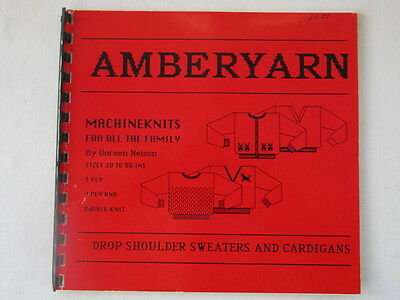 Knitting Machine Book By Doreen Nelson For Drop Shoulder & Sweater Patterns.