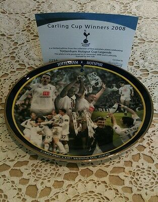 Tottenham Hotspur Carling Cup winners 2008 Danbury mint plate Spurs 125 years