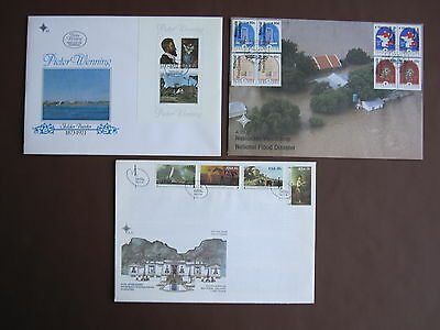 South Africa 3 different FDCs - see picture + below