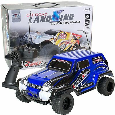 LandKing Radio Remote Control Off Road Racing RC Car Monster Buggy Truck - BLUE