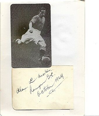 *** SUPERB RANGERS SIGNED AUTOGRAPHS 1929 Alan MORTON and Tommy MUIRHEAD ***