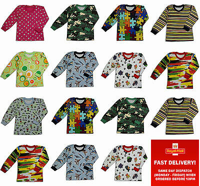 Baby Toddler Boy/Girl Long Sleeve T-Shirt Top 100% Cotton 0-3-6-9-12-18-24months